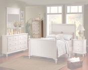 Homelegance Chest in White Sand Pottery EL875W-9