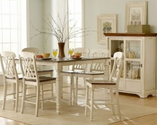 Homelegance Counter Height Set Ohana in White Finish EL1393W-36SET