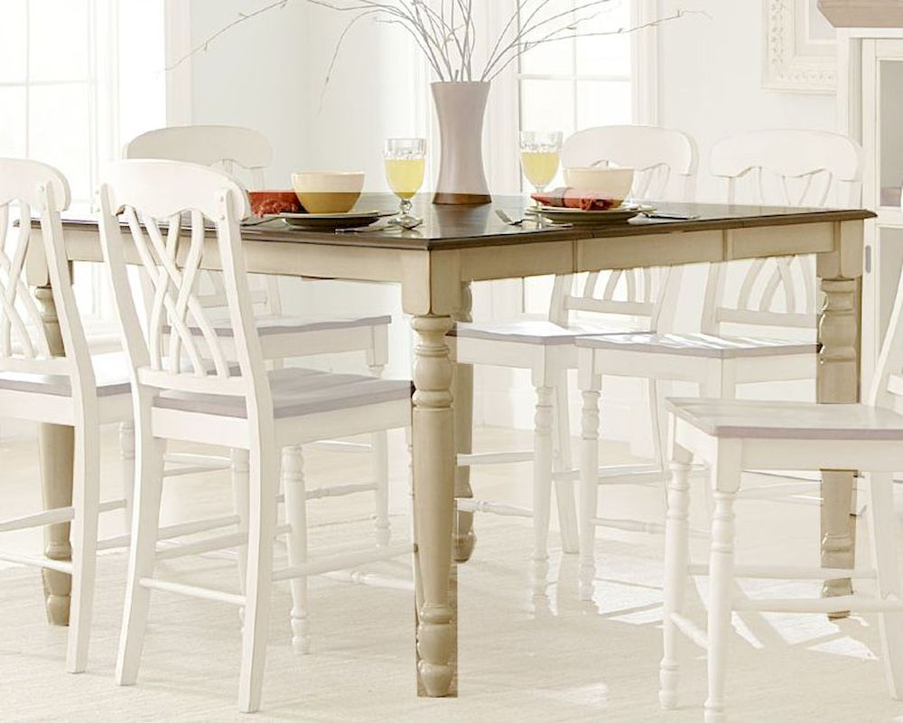 Table Height 36: Homelegance Counter Height Table Ohana In White Finish