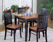 Homelegance Dining Set Liz in Black and Cherry Finish EL-764SET
