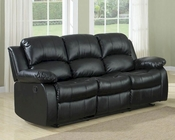 Homelegance Double Reclining Sofa Cranley in Black EL-9700BLK-3