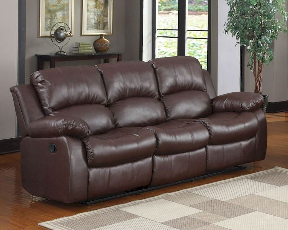 Homelegance Double Reclining Sofa Cranley In Brown Finish