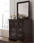 Homelegance Dresser and Mirror Glamour EL-1349-5-6