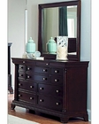 Homelegance Dresser and Mirror Inglewood in Deep Cherry EL1402-56RT
