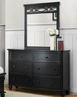 Homelegance Dresser and Mirror Sanibel in Black EL2119BK-56