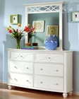 Homelegance Dresser and Mirror Sanibel in White EL2119W-56