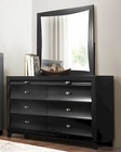 Homelegance Dresser and Mirror Zandra in Pearl Black EL2262BK-56