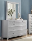 Homelegance Dresser and Mirror Zandra in Pearl White EL2262W-56