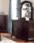 Homelegance Dresser and Swivel Mirror Inglewood in Cherry EL1402-56SW