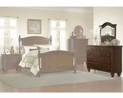 Homelegance Dresser with Mirror in Brown Cherry Aris EL1422-5SET