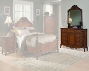 Homelegance Dresser with Mirror in Warm Cherry Madaleine EL1385-5SET