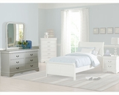 Homelegance Dresser with Mirror in White Marianne EL539WSET