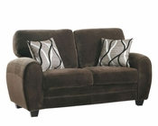 Homelegance Loveseat Rubin in Chocolate Finish EL-9734CH-2