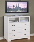Homelegance Media Chest Astrid in White EL1313W-11