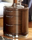 Homelegance Night Stand w/ Chrome Base Zelda EL2238-4