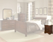 Homelegance Nightstand in Warm Cherry Chateau Brown EL549-4