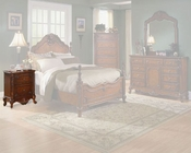 Homelegance Nightstand in Warm Cherry Madaleine EL1385-4