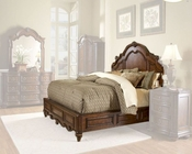 Homelegance Panel Bed in Warm Brown Prenzo EL1390LP-1