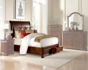 Homelegance Platform Bed with Footboard Storage Karla EL-1740PLBED