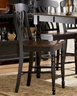 Homelegance Pub Chair Ohana in 2-Tone Finish EL1393BK-24 (Set of 2)
