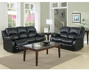 Homelegance Reclining Sofa Set Cranley in Black EL-9700BLKSET