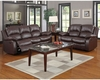 Homelegance Reclining Sofa Set Cranley in Brown Finish EL-9700BRWSET