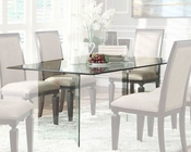 Homelegance Rectangle Glass Dining Table Alouette EL-17813
