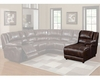 Homelegance Right Side Puch-Back Chaise Viewers EL-9818-R