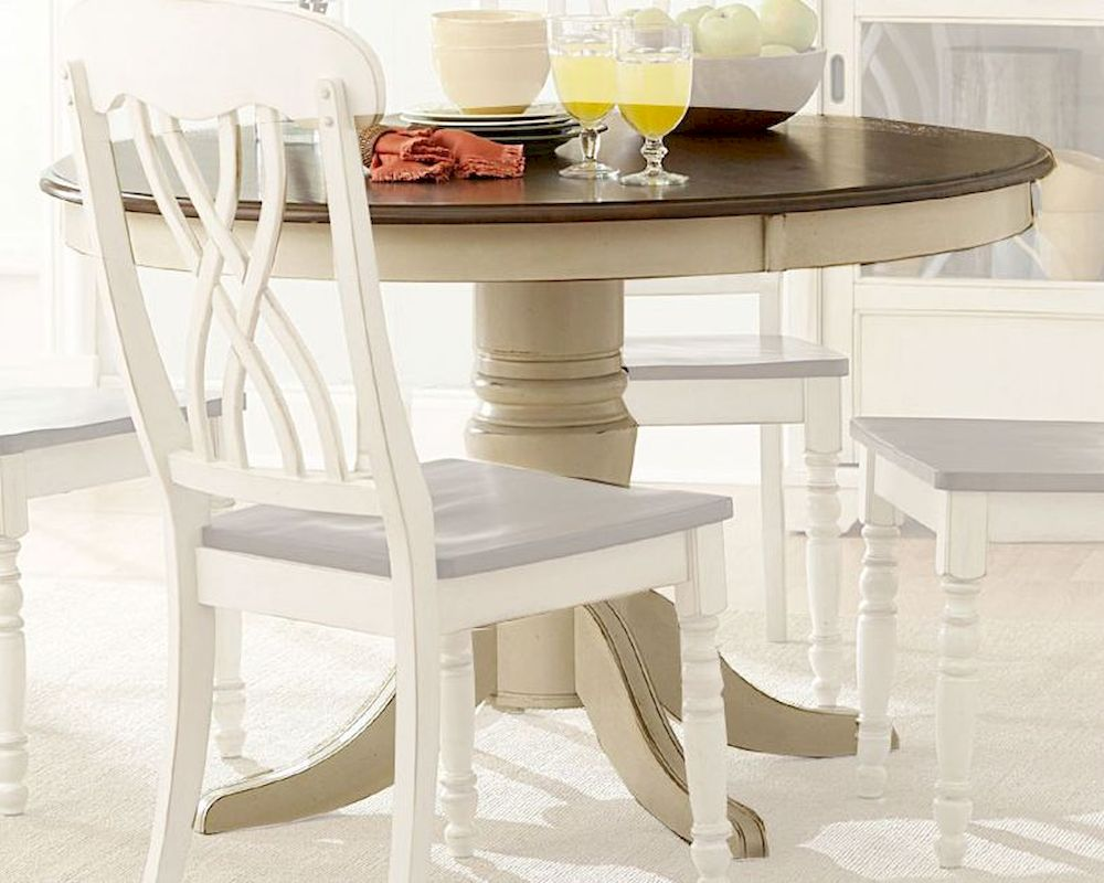 Homelegance Round Dining Table Ohana In White Finish El1393w 48