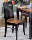 Homelegance Side Chair Liz in Black and Cherry EL-764S (Set of 2)