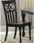 Homelegance Side Chair Sanibel EL-2119BKS (Set of 2)