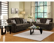 Homelegance Sofa Set Rubin in Chocolate Finish EL-9734CHSET