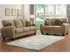 Homelegance Sofa Set Rubin in Light Brown Finish EL-9734BRSET