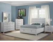 Homelegance Storage Bedroom Set Zandra in Pearl White EL2262WSET