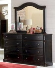 Homelegance Traditional Style Dresser and Mirror Carollen EL2268BK-56