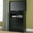 Homelegance TV Chest in Black EL-539BK-11