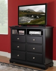 Homelegance TV Chest in Black Preston EL814BK-11
