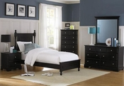 Homelegance Twin Bedroom Set in Ebony EL-1356TBK