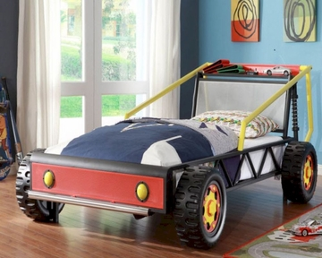 Homelegance Twin Race Car Bed In Red Track El 2009t 1
