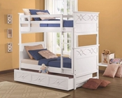 Homelegance Twin/Twin Bunk Bed in White Sanibel EL-B2119W-1