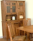 Honey Oak Buffet/Hutch SU-2416RO