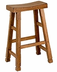 Honey Oak Saddle Seat Bar Stool SU-1721RO (Set of 2)