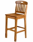 Honey Oak Slatback Bar Stool SU-1821RO (Set of 2)