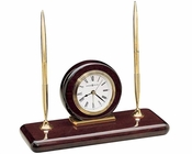 Howard Miller Table Clock Rosewood Desk Set HM-613588