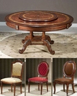 Infinity Dining Set w/ Lazy Susan Table Louis XVI INLV712-2SET