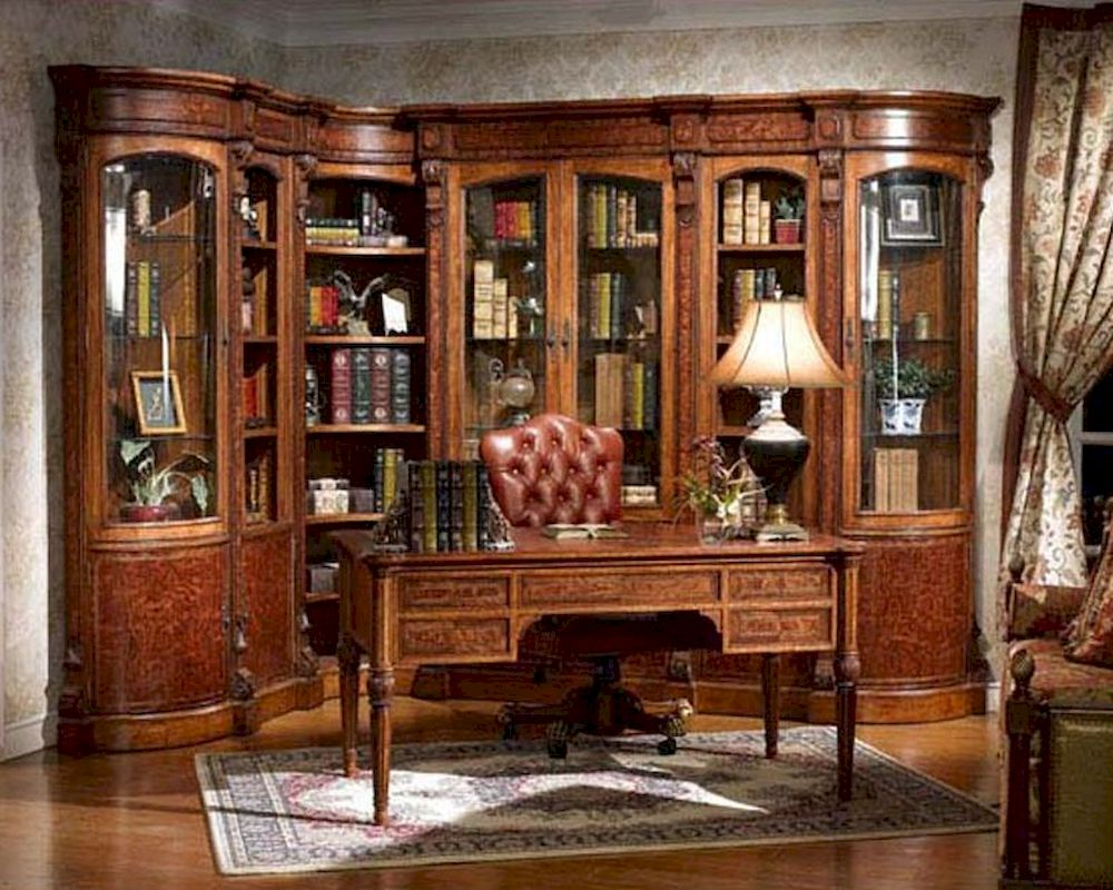 Italian reproduction classic home office set louis xvi for Classic house furniture galleries