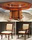 Infinity Furniture Dining Set w/ Lazy Susan Table Orpheus INOP-712SET