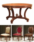 Infinity Furniture Dining Set w/ Round Table Louis XVI INLV712B-SET