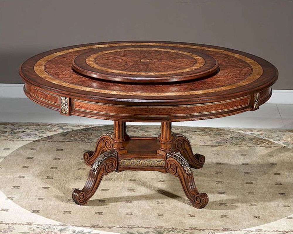 infinity furniture dining table w lazy susan louis xvi. Black Bedroom Furniture Sets. Home Design Ideas