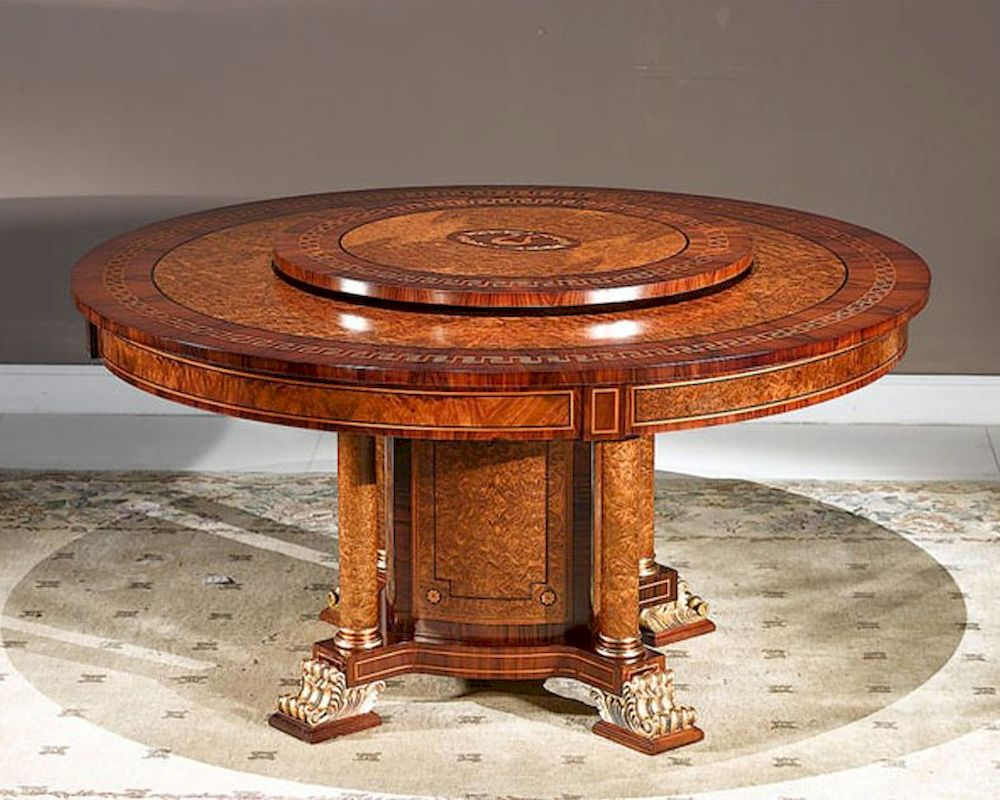 Impressive Lazy Susan Dining Table For Room Decoration